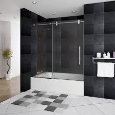 glass door for bathtub. Impressive Bathtub Glass Door Shower Ideas For Black Bathroom