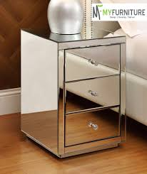 vegas white glass mirrored bedside tables. Delue Mirror Modern Bedside Table Concept Design Ideas With Handsome Drawer Beside Heavenly White Bed Vegas Glass Mirrored Tables I