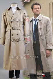 supernatural castiel twill trench coat costume