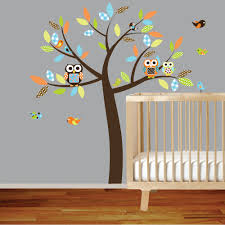 fetching home interior wall decor with jungle tree wall decals fetching baby nursery room decoration
