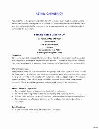 Mail Clerk Resume Sample Fresh Sample Cashier Resume Lowe S For Cvs