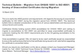 Bsi S Instant Iso 45001 May Have Violated Iaf Resolution But Ukas