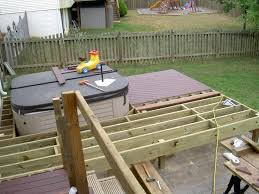 hot tub deck plans home design simple for above ground pools exclusive in pictures