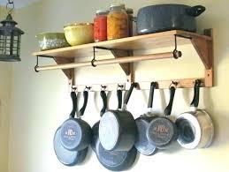 wall mounted pot rack ikea pan rack optimize kitchen with wall mounted pot rack modern kitchen