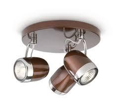 Philips balsa lampada da 3 faretti metallo marrone e dettaglio