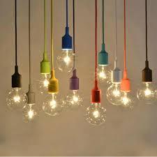 modern colorful silicone rubber pendant light e27 for decor diy hanging pendant lamp res cord lamps light fixtures luminaire pendant lighting parts plug