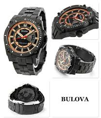 nanaple rakuten global market bulova precisionist champlain bulova precisionist champlain mens watch 98b143 bulova carbon black rose gold