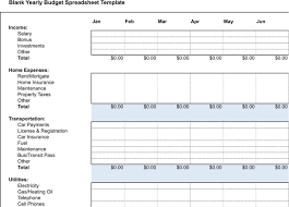 5 Yearly Budget Templates Free Download