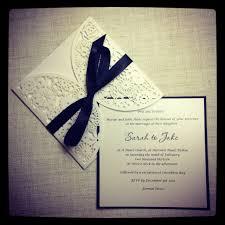 Black And White Invitation Paper Black And White Laser Cut