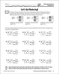 Greatest Common Factor Chart Printable Lets Get Reducing Reducing Fractions To Lowest Terms