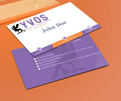 Office Visiting Card Modern Professional Business Business Card Design For Yvos Your