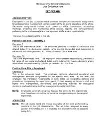 Cool Legal Secretary Job Duties Resume With Stylish Secretary Job Enchanting Secretary Duties Resume