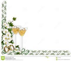 Wine Border Template Wedding Invitation Border Template Stock Illustration Illustration