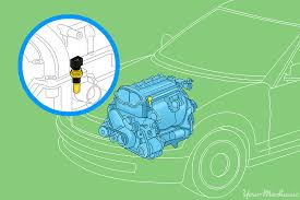 how to replace a coolant temperature sensor yourmechanic advice graphic showing a diagram of the engine
