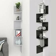 5 tier floating wall shelves corner