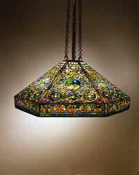 landscape hanging shade circa 1905 tiffany studios 1902 1932 united states new york leaded glass and bronze the neustadt collection of tiffany