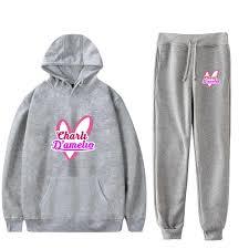Newest Charli Damelio Merch Hoodie Sweatshirt Girls Sweatpants Suit Charlie  Damelio Shirt Trousers Sets Clothing Bottom Pullover|Women's Sets