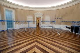 west wing oval office. The Hardwood Floor Of Oval Office Is Resurfaced As West Wing White House In Washington Undergoes Renovations While President Donald Trump E