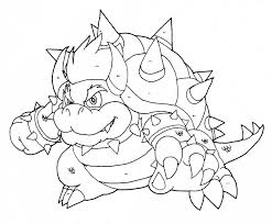 Super Mario Brothers Coloring Pages To Print Classic Style Super