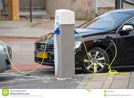Electric Cars At Charging Station Editorial Stock Photo Image