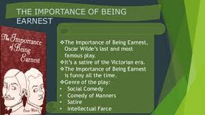 tips for crafting your best the importance of being earnest essay the importance of being ernest is quite a different meaning than the importance of being earnest they did a nice job of preparing the audience
