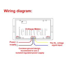 ac voltmeter wiring diagram ac image wiring diagram aliexpress com buy mini voltage monitor meter ac 0 20v blue lcd on ac voltmeter wiring