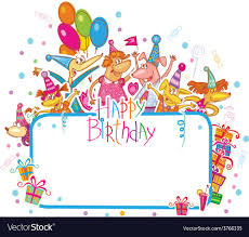 Templates For Birthday Cards Template For Happy Birthday Card With Place For