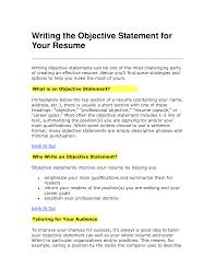 Objective Statement For Resume Berathen Com