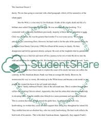 The American Dream Essay Example Topics And Well Written Essays
