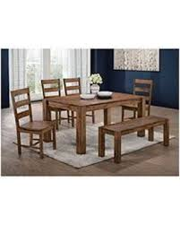 table 4 chairs and bench. chase dining 6pc set-table, 4 side chairs \u0026 bench table and s