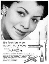 maybelline african american makeup advertisment 1950s atomic