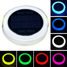Underwater Solar Led Lights Rgb Led Underwater Light Solar Powered Pond Light Outdoor Swimming Pool Floating Party Decorative Light With Remote Control