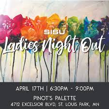 come out for a fun evening of painting wine and friends we ll get out of the gym for the night and tap into our artsy sides at pinot s palette