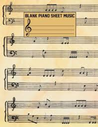 Music Paper Print Blank Piano Sheet Music Composition Book Blank Staff Paper Large Print 8 5