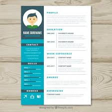 Graphic Designer Resume Simple Graphic Designer Cv Template Vector Free Download