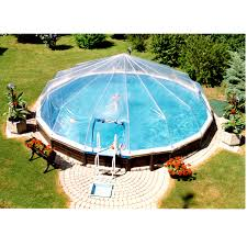 above ground pool covers. Picture Of Replacement Vinyl Pool Dome Covers - Round Above Ground O