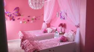 Pink Bedroom Flowers Butterflies A Pink Bedroom For Two Youtube