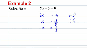 gcse maths revision solving linear equations