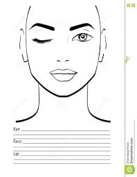 Mac Makeup Face Chart Template Hair And Makeup