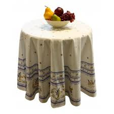 provence tablecloth blue moustiers round 63 100 cotton made in