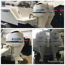 yamaha outboard paint. twin 300 yamaha four stroke\u0027s contender deck matched white with sapphire blue and powder custom outboard paint