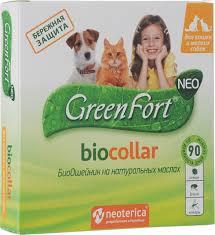 "<b>БиоОшейник</b> ""<b>GreenFort Neo</b>"" для кошек и мелких собак, от ..."