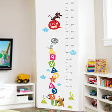 Cat Height Chart Cat Dog Funny Mouse Growth Chart Number Height Measure Wall