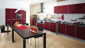 Red Kitchen Furniture Red And Grey Kitchen Cabinets Quicuacom