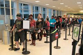 post airport security evolves as do the threats houston  passengers wait in a transportation security administration screening line at george bush intercontinental airport wednesday