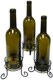 Epicureanist Wine Bottle Candle Holder, Set of 3