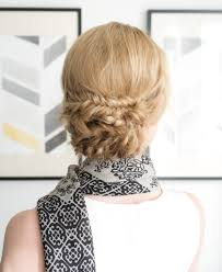 Chingon Hair Style easy & elegant hairstyle fishtail braid chignon 3672 by wearticles.com