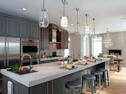 3 pendant lights over island kitchen