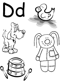 Small Picture Learn Alphabet Letter D Coloring Page Coloring Sun