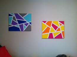 colorful canvas painting ideas easy art